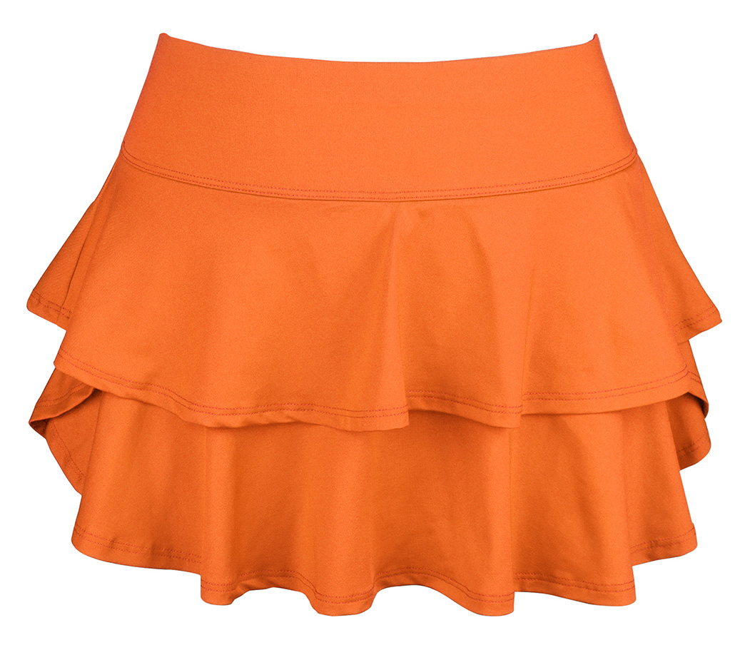DUC Belle Women's Tennis Skirt (Orange)