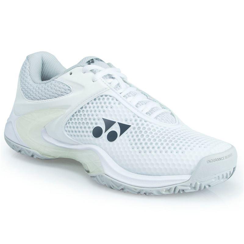 Yonex Women's Power Cushion Eclipsion II Tennis Shoe (White/Silver)