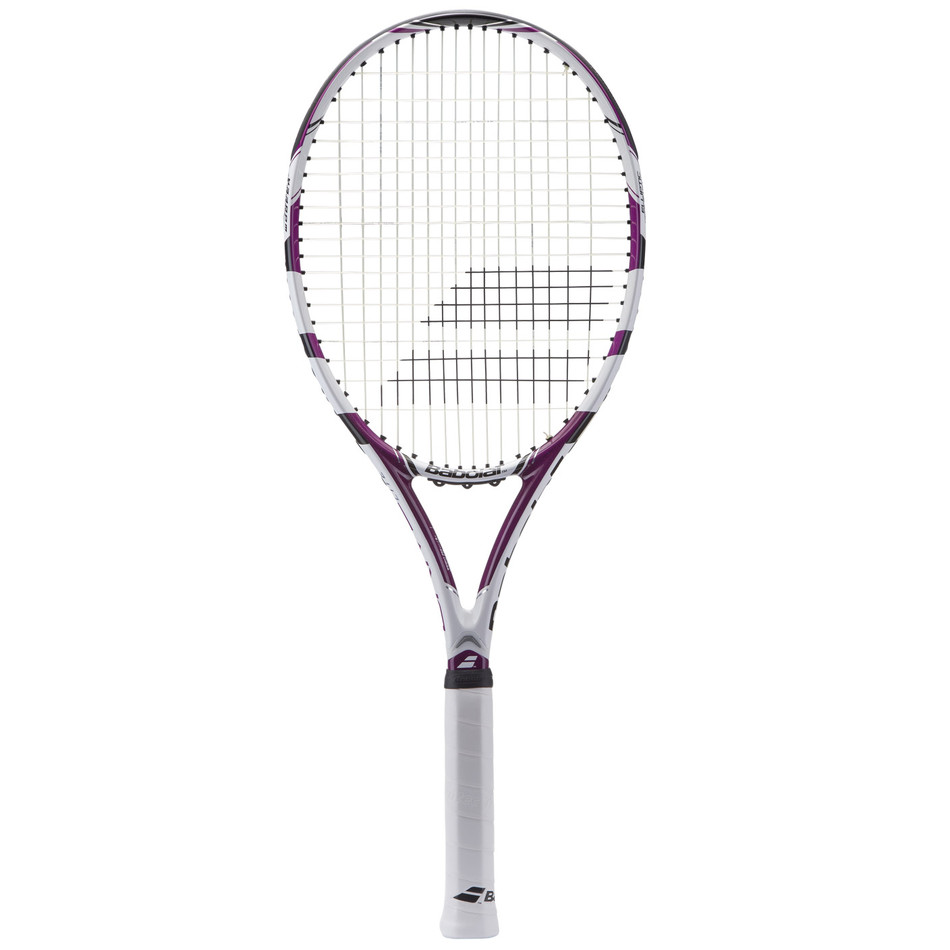 babolat drive lite tennis racquet white violet from do it tennis. Black Bedroom Furniture Sets. Home Design Ideas