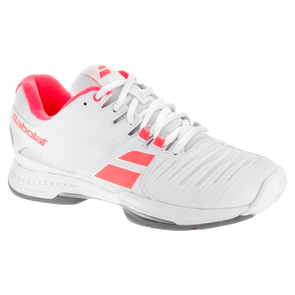Babolat Women's SFX2 All Court Tennis Shoes (White/Pink)