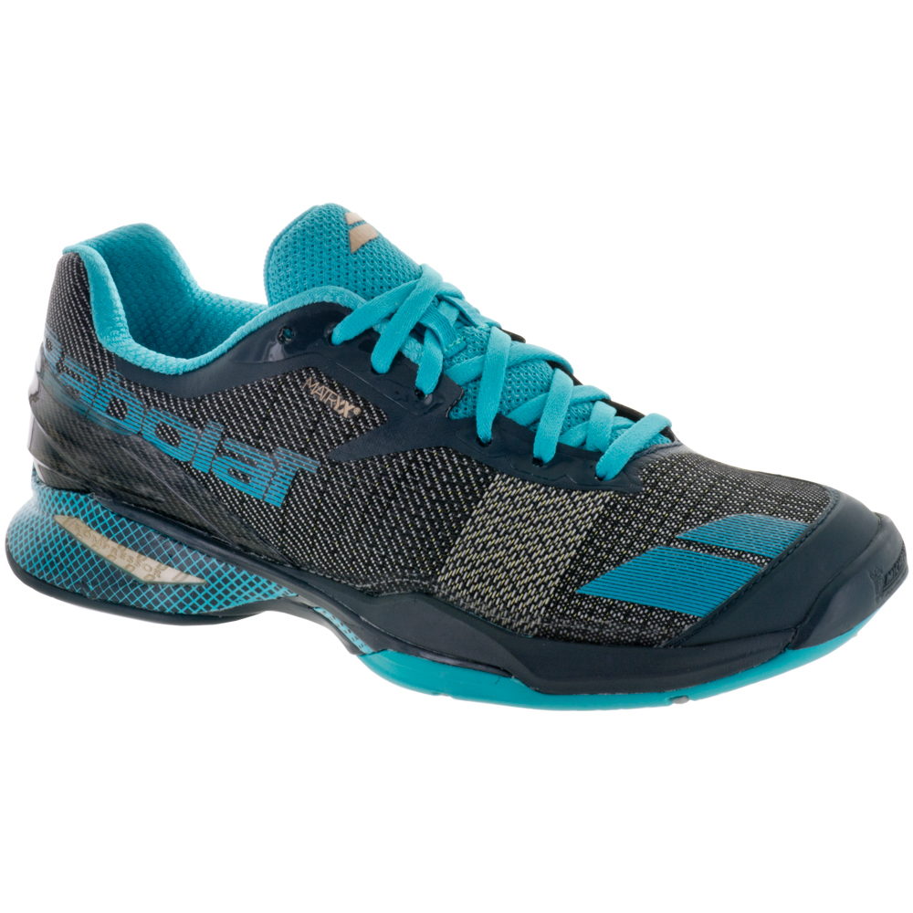 Babolat Women's Jet All Court Tennis Shoes (Grey/Blue)