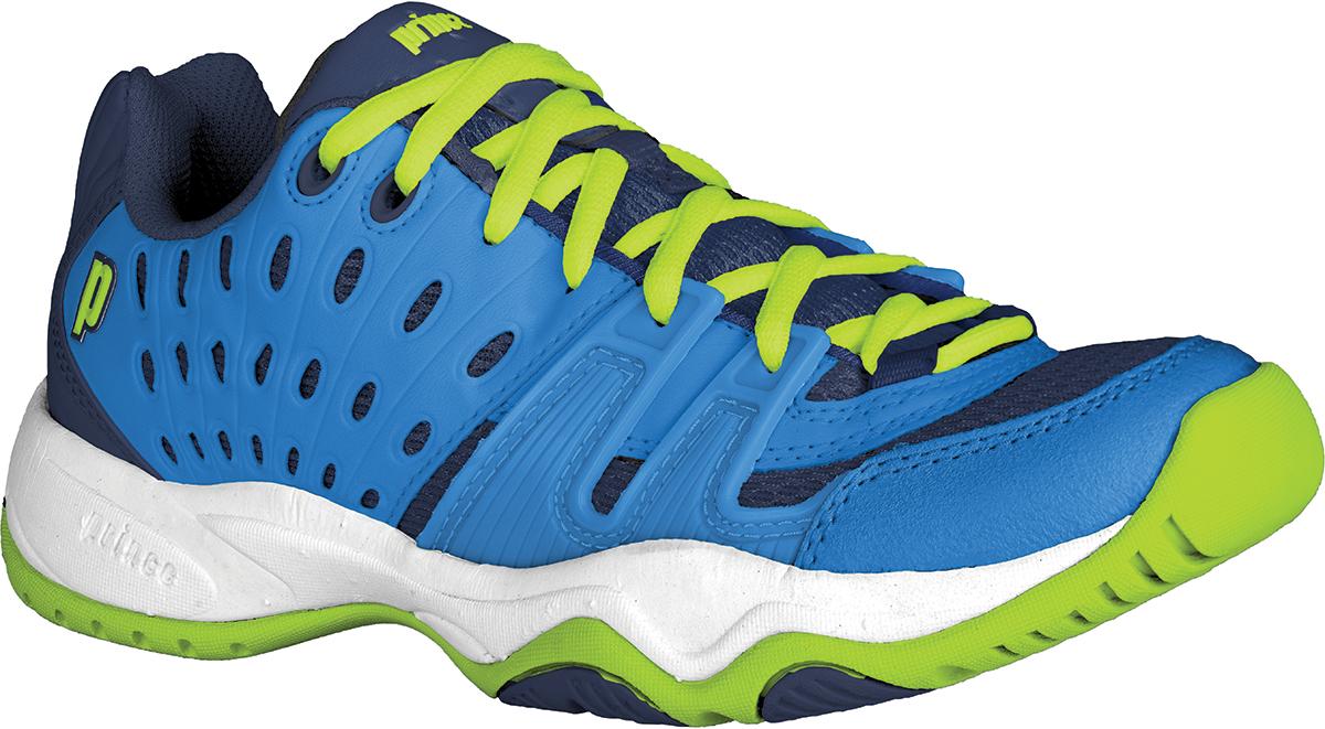 Prince Junior's T22 Tennis Shoes (Cobalt/ Lime)