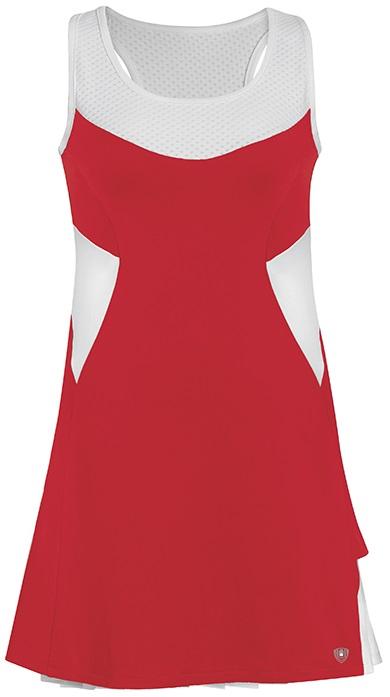 DUC Tease Women's Dress (Red/ White)