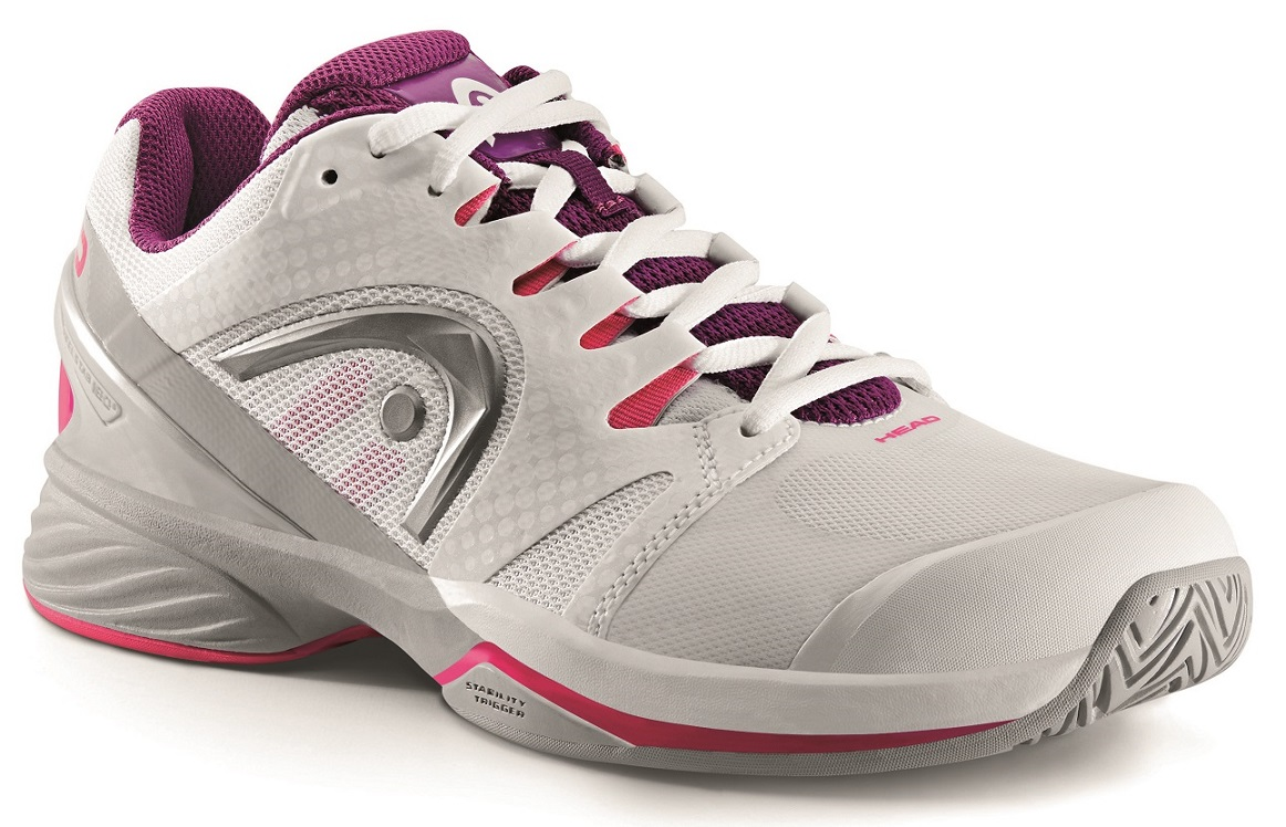 Head Women's Nitro Pro Tennis Shoes (White/Purple)