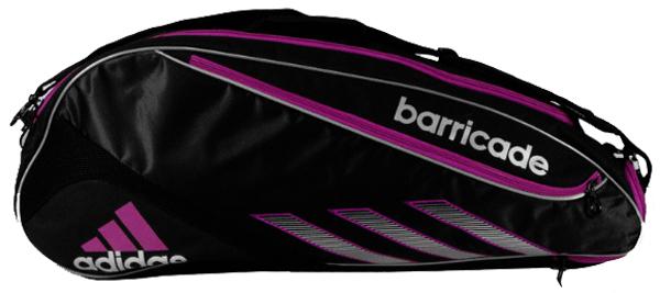 d393f068d093 Adidas Barricade III Tour 3 Pack Tennis Bag (Blk  Pnk)
