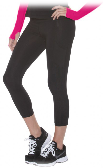 Bloq-UV Compression Capri Tights (Black)