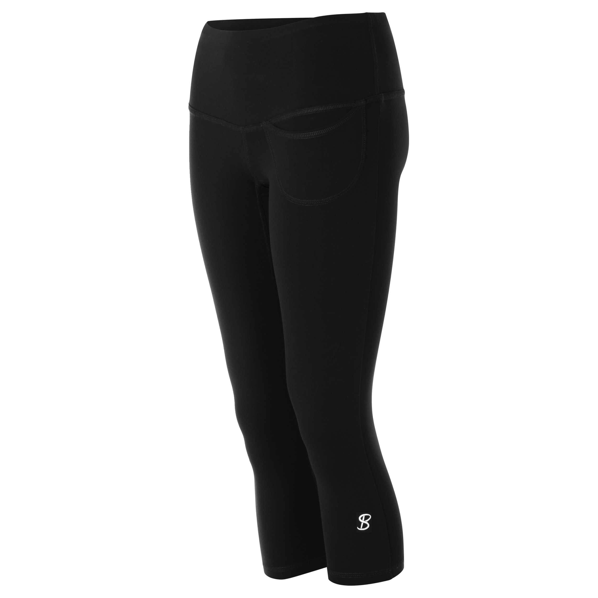 262cfb3b67369 Sofibella Women's Pocket Capri Tennis Leggings (Black) - Do It Tennis