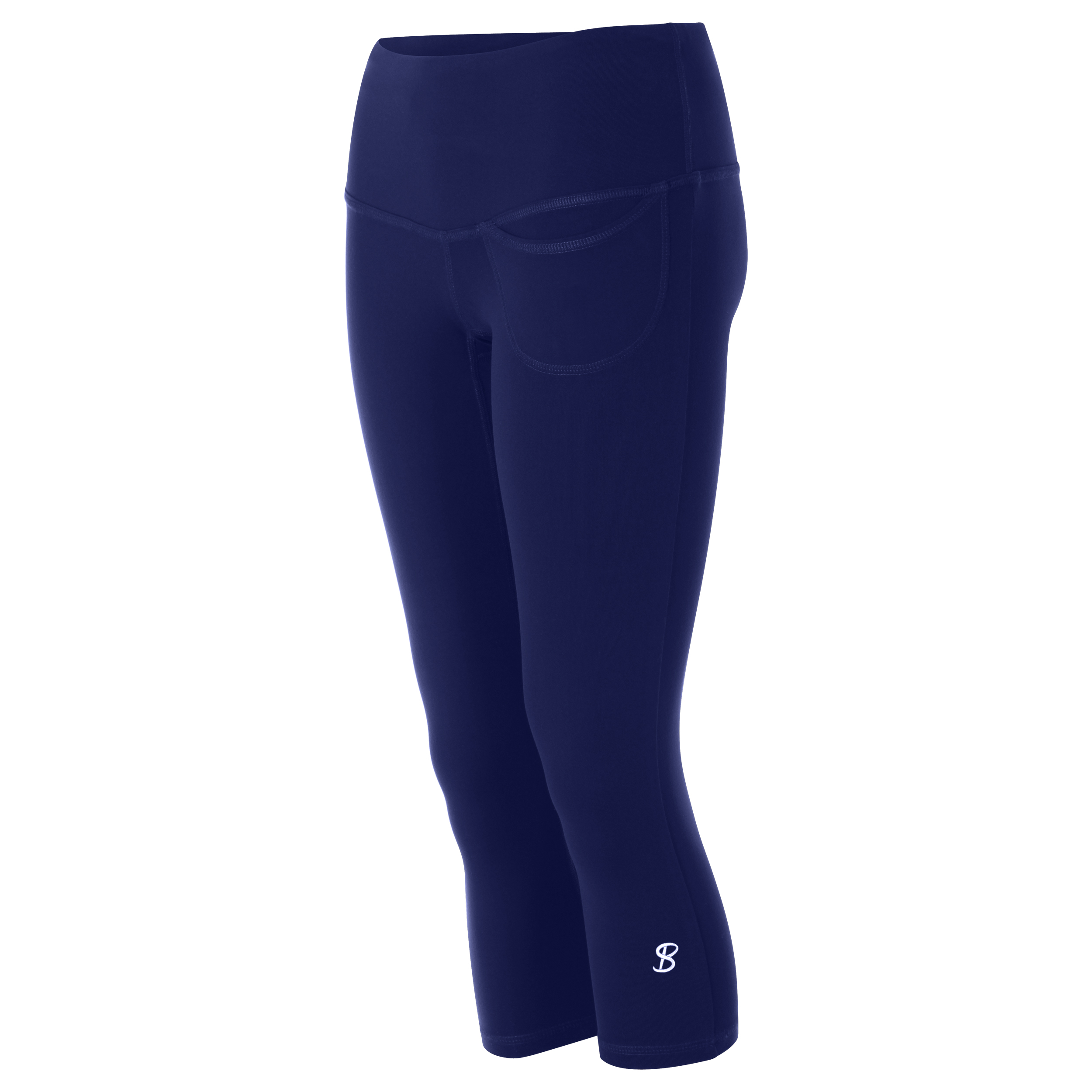 5e824e68f6b40 Sofibella Women's Pocket Capri Tennis Leggings (Navy) - Do It Tennis