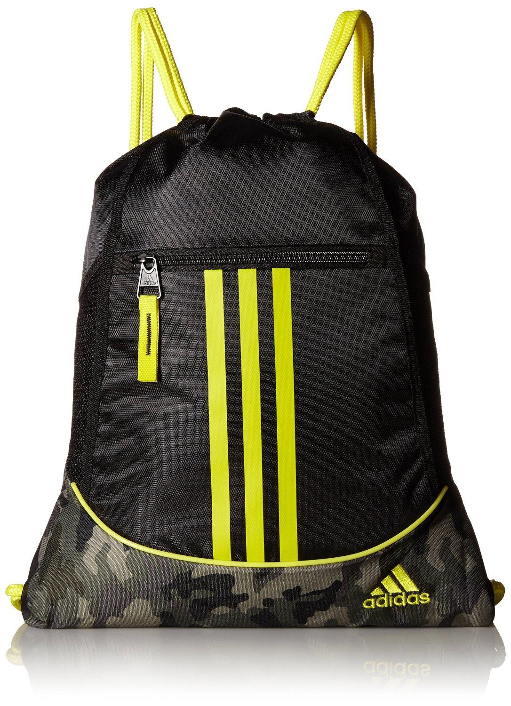0e04a08fe8e5 adidas Alliance II Sackpack (Black Cab Camouflage Shock Yellow)