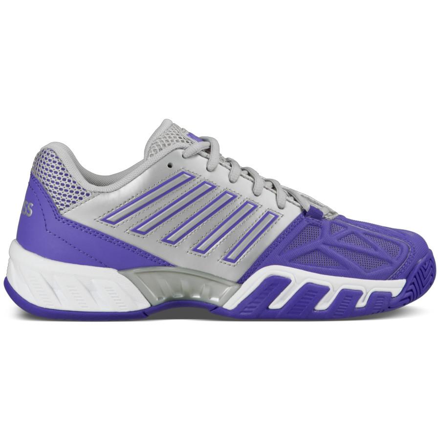 K-Swiss Women's Bigshot Light 3 Tennis Shoes (Purple/Silver)