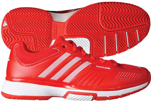 Adidas Barricade 7 Womens Tennis Shoes (Red/ Wht) from Do It Tennis