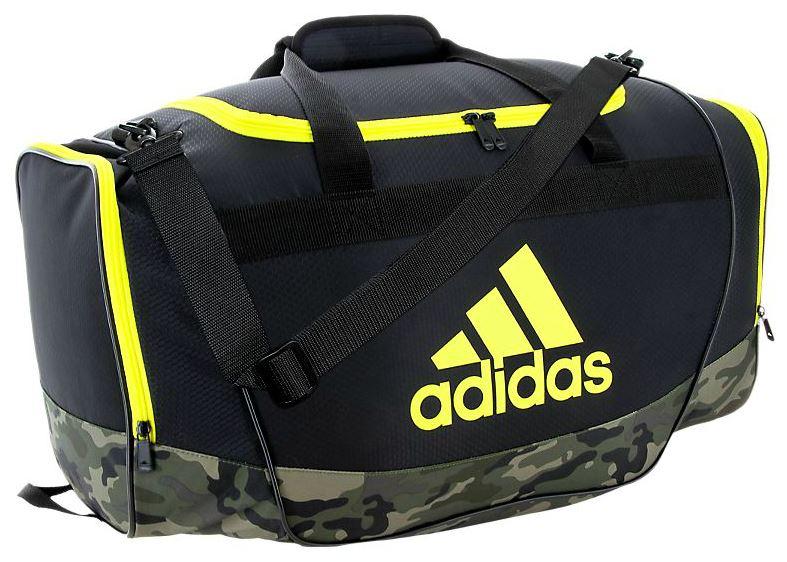 216a477dd7f8 Adidas Defender II Small Duffel Bag (Black Cab Camo Shock Yellow)