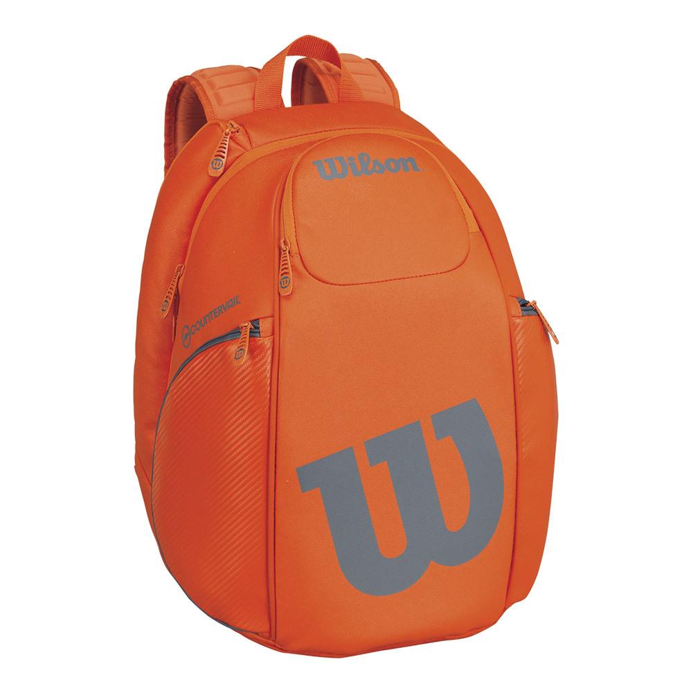 Wilson Burn Tennis Backpack (Orange/Grey) from Do It Tennis
