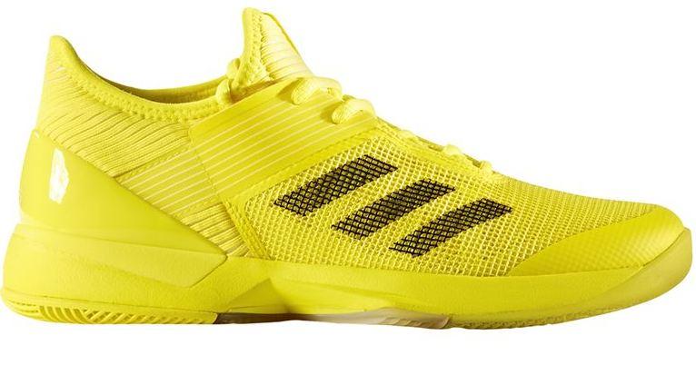 Adidas Women's Adizero Ubersonic 3.0 Tennis Shoes (Yellow/Black)