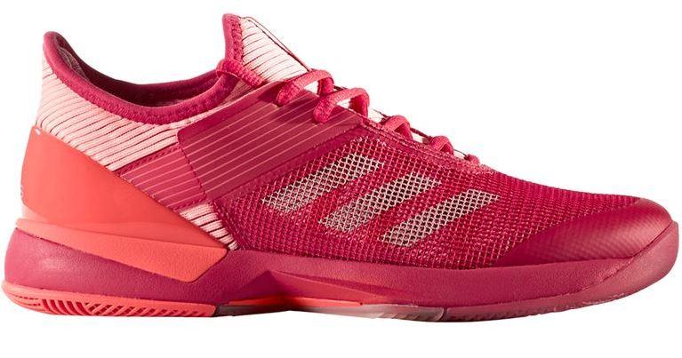 Adidas Women's Adizero Ubersonic 3.0 Tennis Shoes (Pink/Coral)