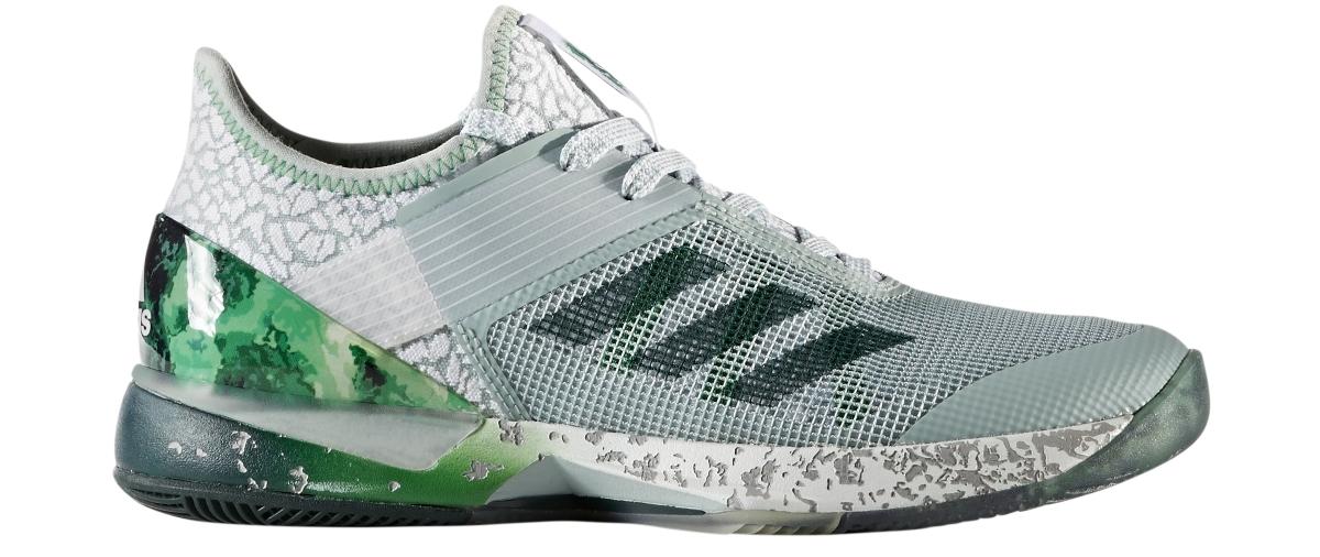 Adidas Women's Adizero Ubersonic 3.0 Jade Tennis Shoes (Tactile Green/Collegiate Green/Green)