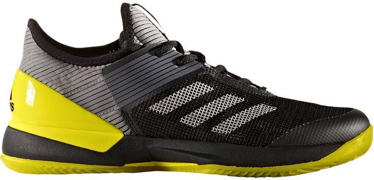 Adidas Women's Adizero Ubersonic 3.0 Clay Court Tennis Shoes (Black/Yellow)