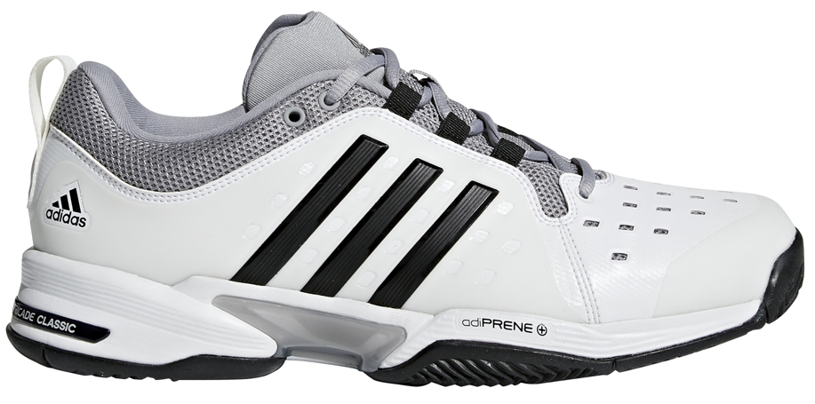 competitive price c189b 91b37 Adidas Mens Barricade Classic Bounce Wide (4E) Tennis Shoes (WhiteBlack)