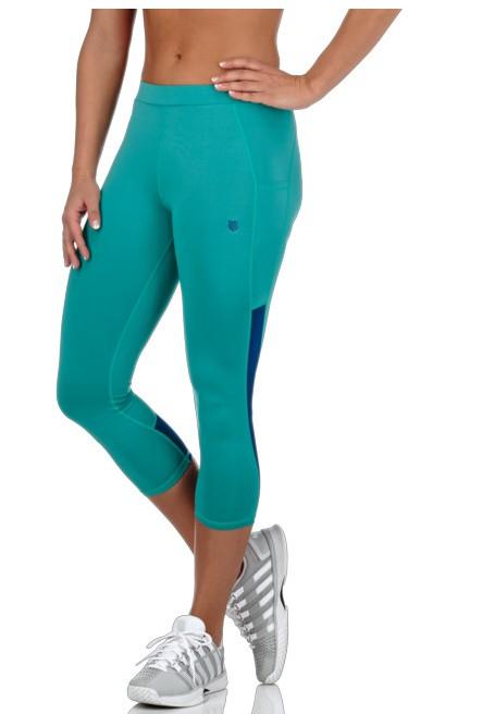 K-Swiss Women's Capri Tennis Pants (Lagoon/Ultramarine)