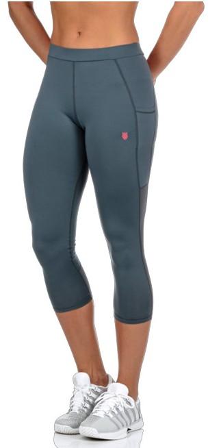 K-Swiss Women's Capri Tennis Pants (Stormy Weather)