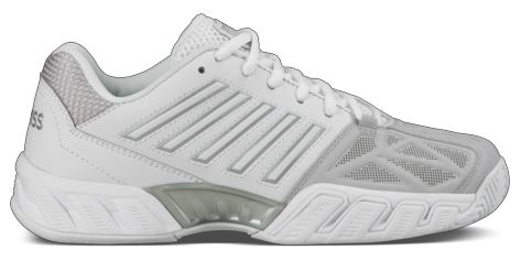 K-Swiss Women's Bigshot Light 3 Tennis Shoes (White/Silver)