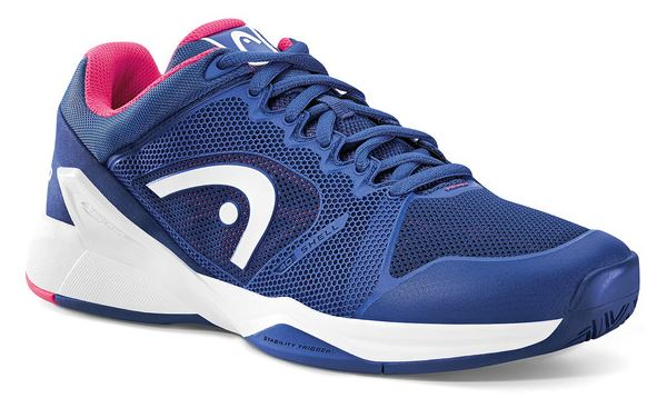Head Women's Revolt Pro 2.0 Tennis Shoes (Navy/Pink)