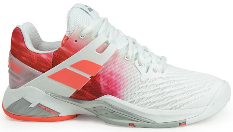 Babolat Women's Propulse Fury All Court Tennis Shoes (White/Pink)