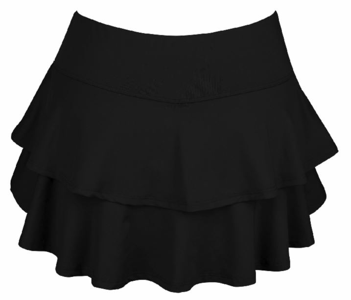 DUC Belle Women's Tennis Skirt (Black)
