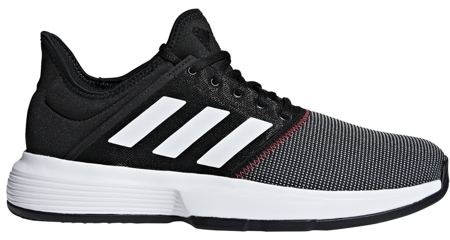22d28670897a8 Adidas Men's GameCourt Tennis Shoes (Black/White/Shock Red) - Do It ...
