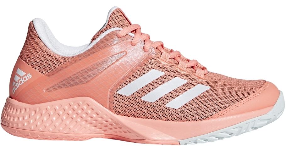 Adidas Women's Adizero Club Tennis Shoes (Chalk Coral/White/Blue Tint)