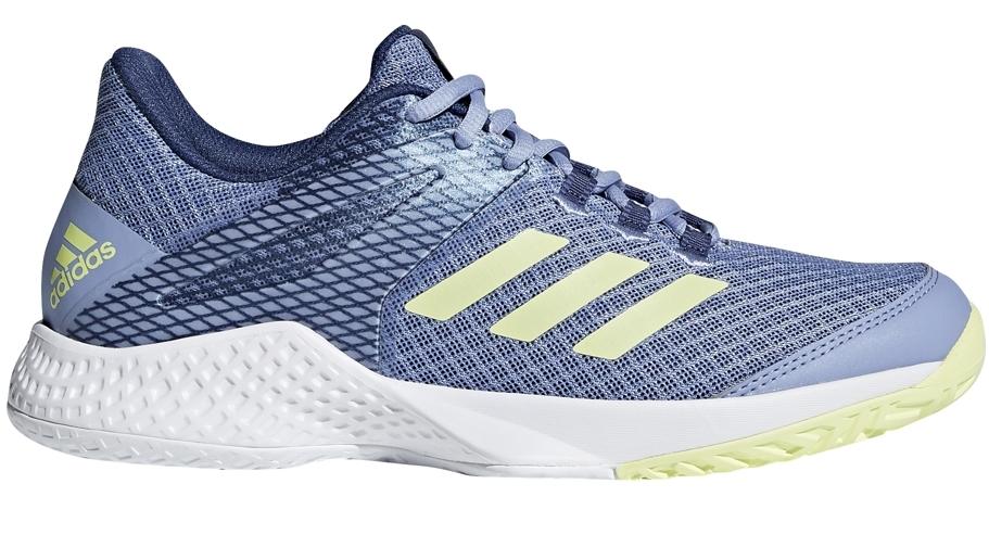 Adidas Women's Adizero Club Tennis Shoes (Chalk Blue/Semi Frozen Yellow/Noble Indigo)