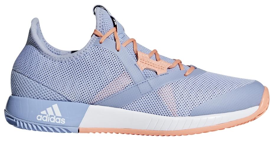 Adidas Women's Adizero Defiant Bounce Tennis Shoes (Chalk Blue/White/Chalk Coral)