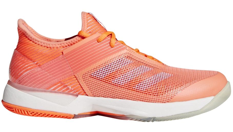 Adidas Women's Adizero Ubersonic 3.0 Tennis Shoes (Chalk Coral)