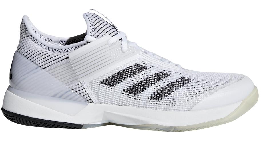 Adidas Women's Adizero Ubersonic 3.0 Tennis Shoes (White/Black)