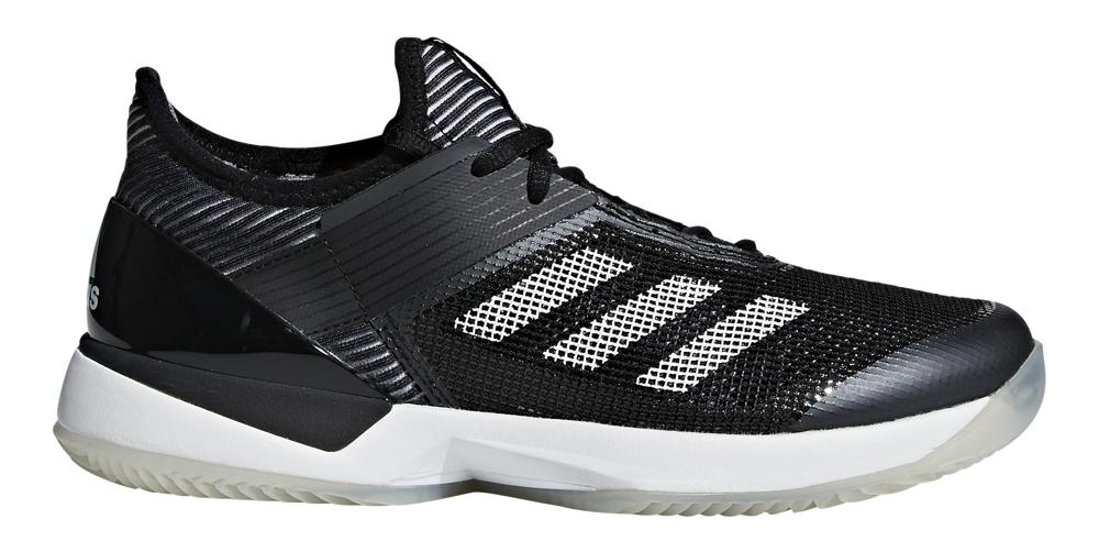 Adidas Women's Adizero Ubersonic 3.0 Clay Court Tennis Shoes (Core Black/White)