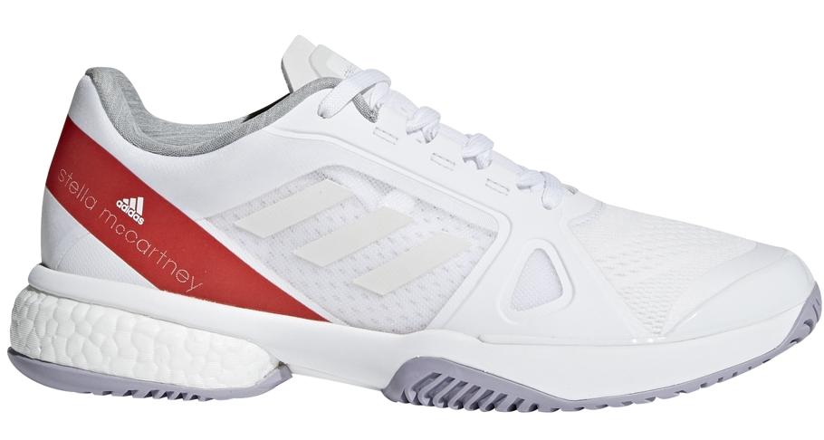 Adidas Women's aSMC Barricade Boost Tennis Shoe (White/Dark Callistos/Pearl Grey)