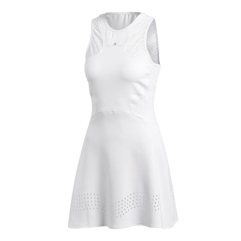 este el primero Mareo  Adidas Women's by Stella McCartney Barricade Tennis Dress (White) - Do It  Tennis