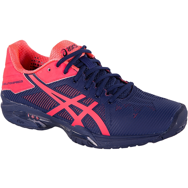 Asics Women's Gel-Solution Speed 3 Tennis Shoes (Blue/Pink)