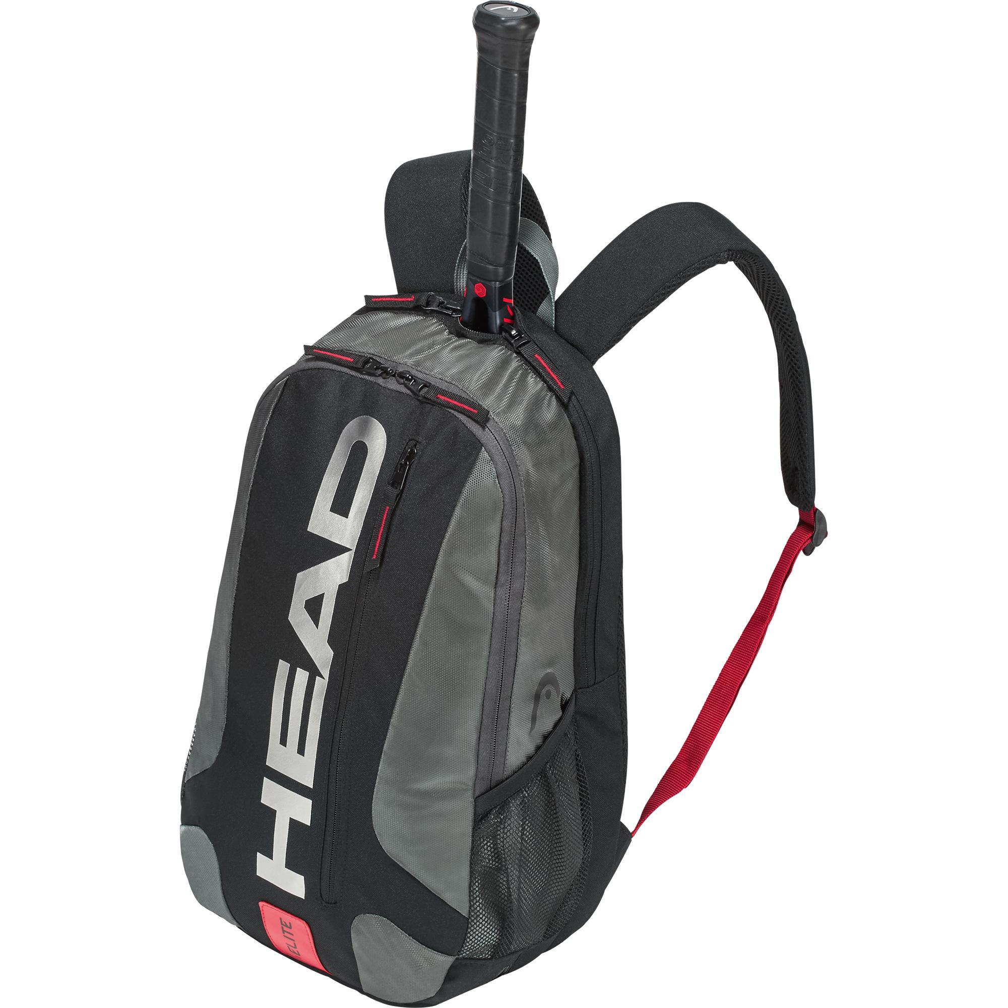 Head Elite Tennis Backpack (Black Red) - Do It Tennis 8ae3e567306eb