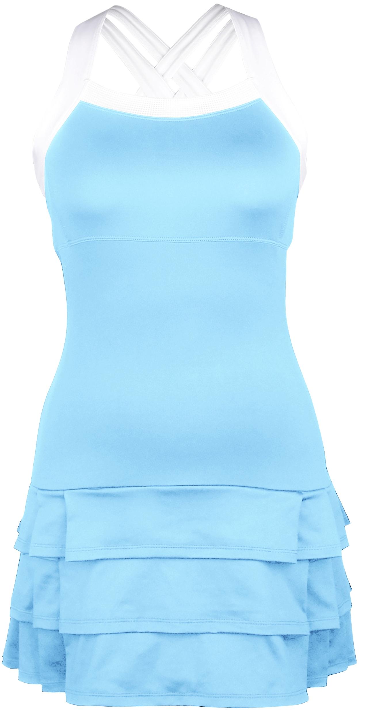 DUC Grace Women's Tennis Dress (Light Blue/White)