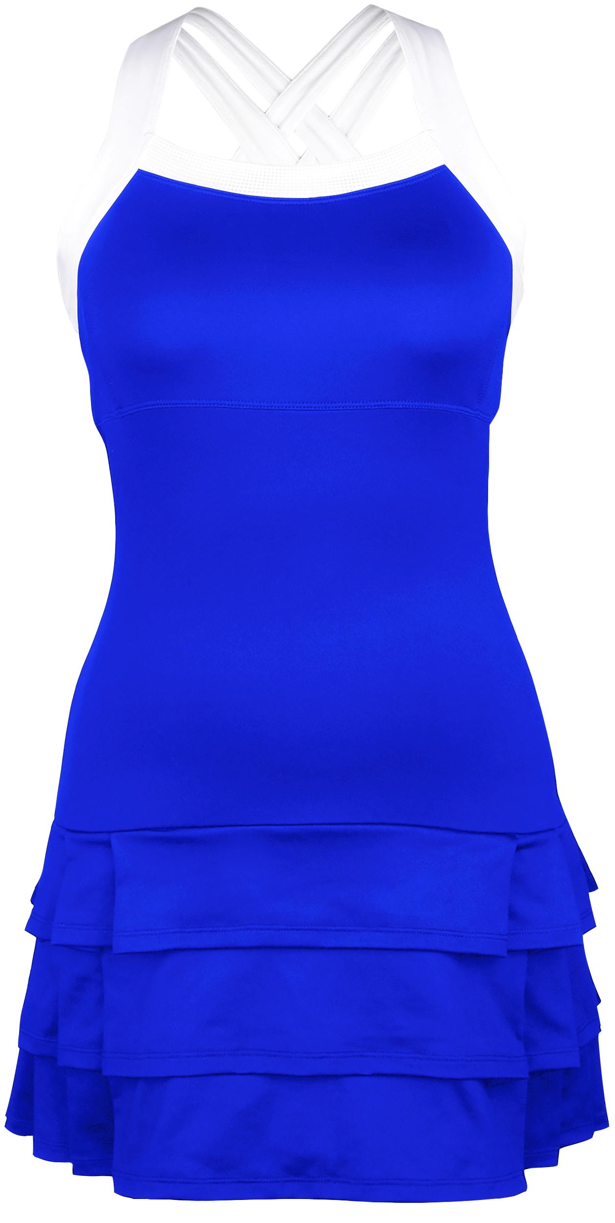 DUC Grace Women's Tennis Dress (Royal Blue/White)