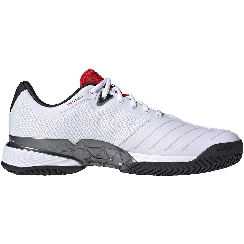 Adidas Men's Barricade 18 Tennis Shoes (White/Black/Night Metallic) 150.00