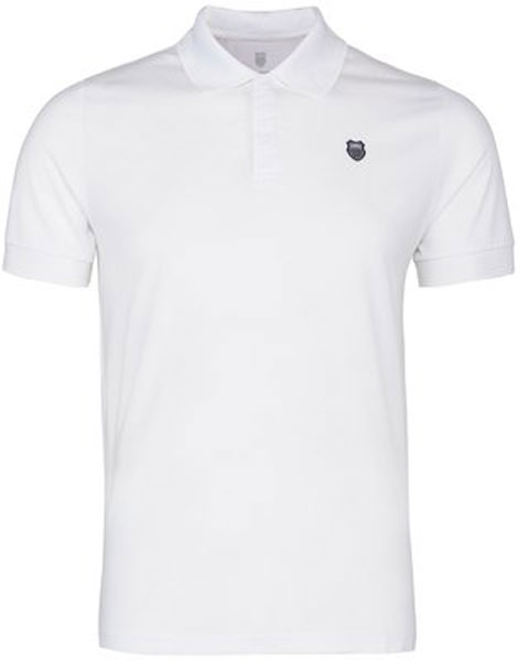K-Swiss Men's Tonal Tipped Polo (White)