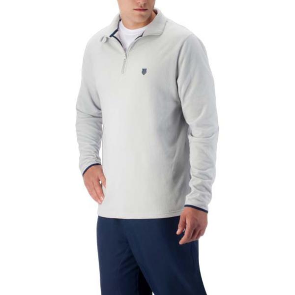 K-Swiss Men's Long Sleeve Quarter Zip Tennis Pullover (Dawn Blue)