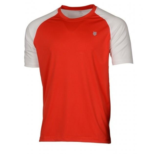 K-Swiss Men's Backcourt Tennis Crew (White/Red)