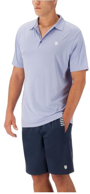 K-Swiss Men's Performance 2-Tone Tennis Polo (Dazzling Blue)
