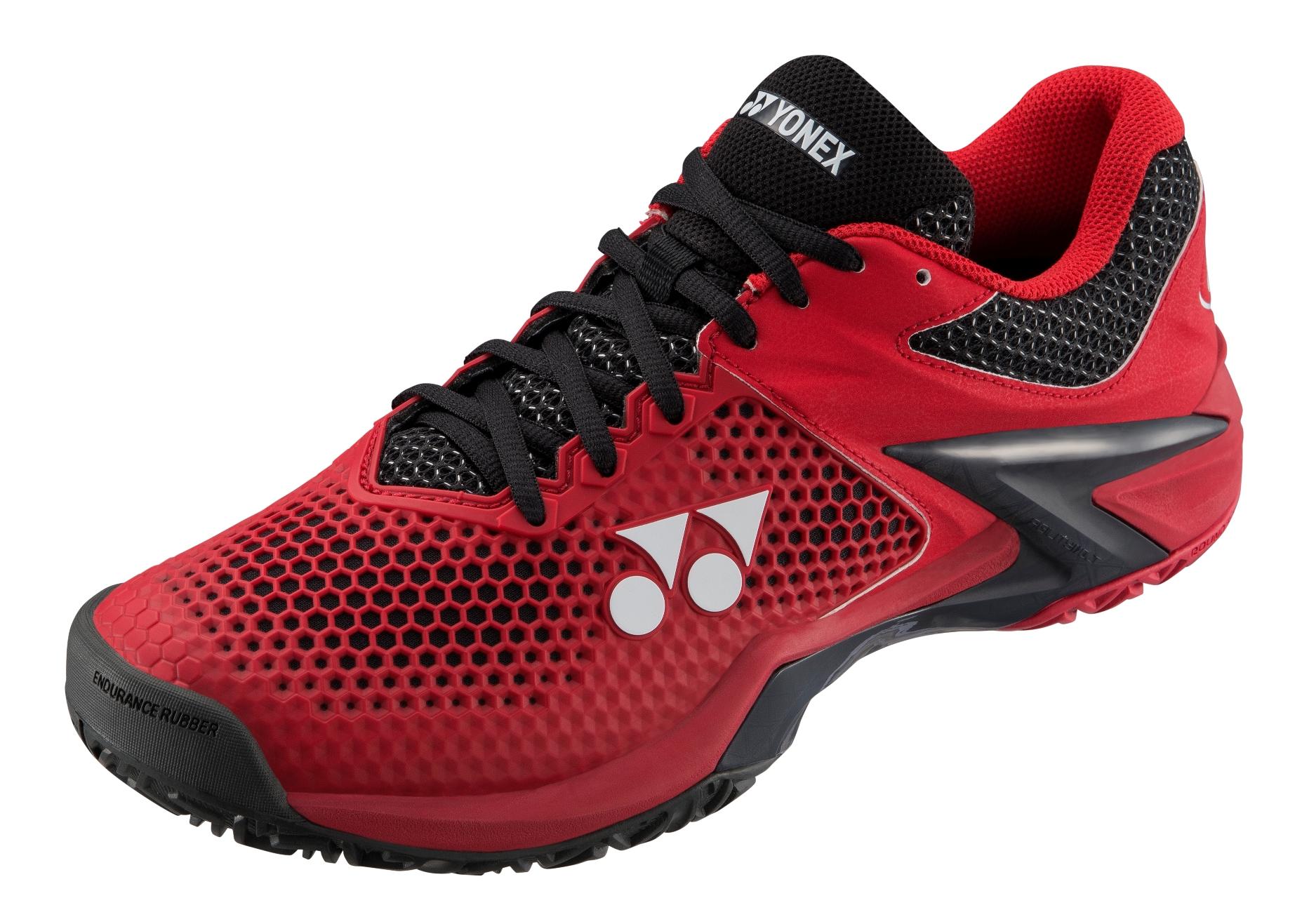 Yonex Men/'s Eclipsion2 Power Cushion Tennis Shoe Red//Black