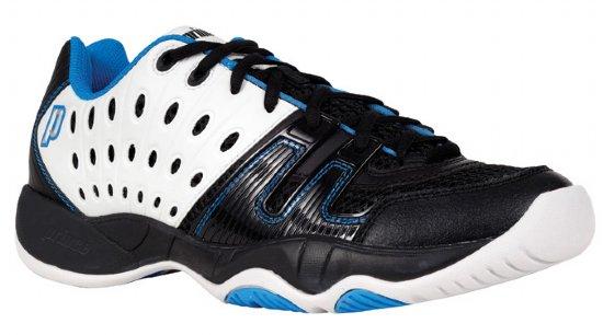 Prince Junior's T22 Tennis Shoes (White/ Black/ Energy Blue)
