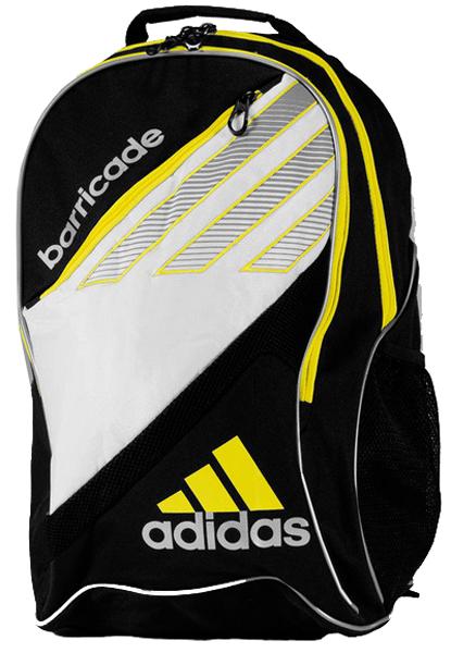 ec3f86ab8570 Adidas Barricade III Tour Racquet Backpack (Blk  Wht  Ylw)