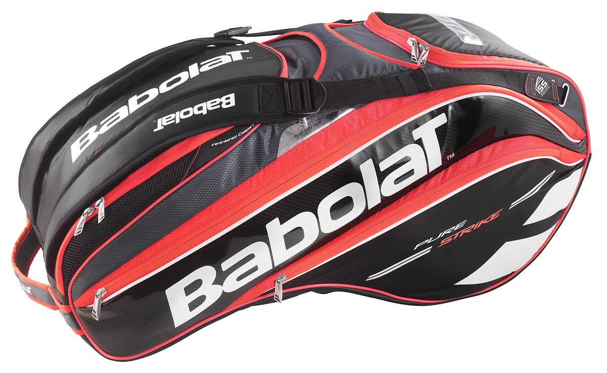 babolat pure strike racquet holder x12 black bright red from do it tennis. Black Bedroom Furniture Sets. Home Design Ideas